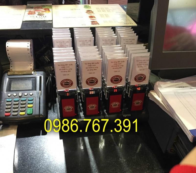 Bộ thẻ rung order, thiết bị tự phục vụ, rung báo khách 16 thẻ